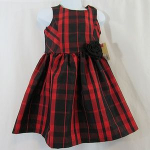 Adorable red and black plaid dress size 4T